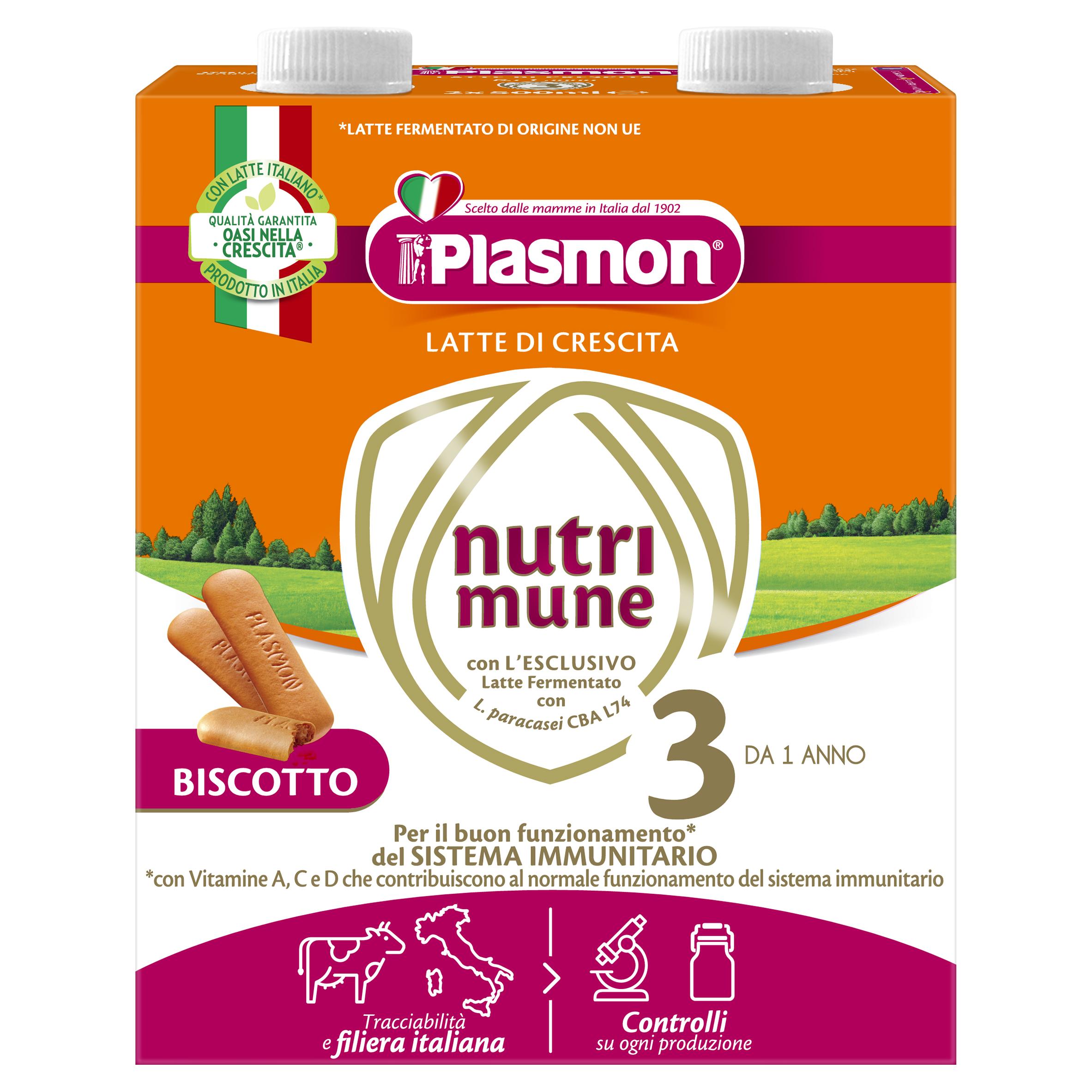 МЛЯКО ЗА МАЛКИ ДЕЦА С БИСКВИТИ PLASMON® Nutri-mune 3